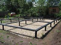 Винтовой фундамент для загородного дома