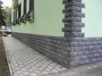 Оформление зданий облицовочной плиткой «под камень»