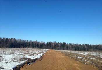 Земельный участок 10 соток, 50 км от МКАД по Дмитровскому шоссе, д. Хлыбы