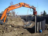 Вдавливание шпунта и другие предварительные работы на земельном участке по Дмитровскому шоссе