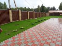 Укладка брусчатки на земельном участке по Дмитровскому шоссе